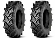 2 New Tractor Tires 12.4 24 Radial Gtk Rs200 12.4r24 R1w 320/85r24 Tubeless Dob