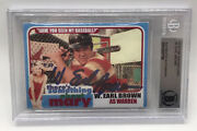 W Earl Brown Signed Something About Mary Autograph Card Slabbed Bas Beckett Slab