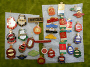 D128. Lot Of 30 Various State Ras Royal Agricultural Society Member Badges