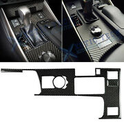 Real Carbon Fiber Gear Shift Box Panel Cover Trim For Lexus Is250 Is350 2014-19