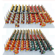 21pcs Minifigures Roman Crusader Commanding Soldiers Medieval Knights Custom Toy