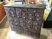 Antique 1900-1920 Multi 33 Drawer Hardware Store Display Cabinet, Parts Chest