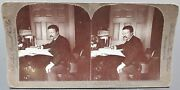 Rare Stereoview Theodore Roosevelt President Stereograph By William H Rau 1903