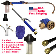 High Pressure Power Washer Wand Attach Directly To Garden Hose + Soap Dispenser