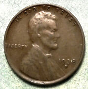 1938 S Wheat Penny Xf+ Choice Extra Fine Brown San Francisco Cent Stock Up-side