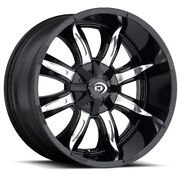 17x9 Vision 423 Manic 8x170 Et12 Gloss Black Machined Face Wheels Set Of 4