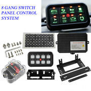 Universal 8 Gang On-off Switch Panel Box Electronic Relay Control System Car