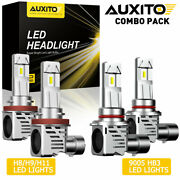 Auxito Led Headlight Bulb Conversion Kit 9005 H11 High Low Beam Combo Pack White