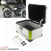 Motorcycle Luggage Trunk Top Lock Case Aluminum Storage Tail Box For Harley Bmw