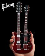Led Zeppelin Jimmy Page Double-neck Cherry Gibson Sg Eds-1275 Mini Guitar Model