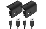 Fosmon Xbox One Controller Play And Charge Rechargeable Battery Pack 2 Pack