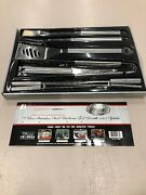 Mr. Barbq 9-piece Stainless Steel Barbeque Tool Set With 4-in-1 Spatula