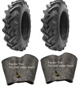 2 New Tractor Tires And 2 Tubes 13.6 28 Gtk R1 8 Ply Tubetype 13.6x28 Fs