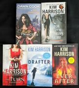 Lot Of 5 Kim Harrison Books - Hollows Ever After Turn Demons Drafter Decoy