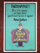 The Fiendish Plot Of Dr. Fu Manchu 1980 Peter Sellers Original Movie Poster Fld