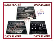 10x Ford Mid Production Aluminum Data Plate Set G503 Wwii Ww2 For Jeep Gpw