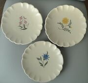 Bo Fajans Sweden Gefle 3 Plate Fruktservis Hand Painted Bobergs 40and039s 50and039s