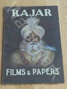Advertising Board Shop Sign Rajar Films And Papers Old Photography Rare Find Os