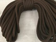 5/8x100 Feet Double Braid Polyester Brown Reins Leads Dock Line Mooring Winch