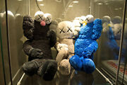 Super Rare Limited Combo Kaws Black Bff Companion And Kaws Seeing/watching Plushandnbsp