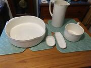 Antique Villeroy And Boch Basin Pitcher Wash Set Art Deco Bed And Breakfast Decor