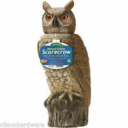 4-rotating-head Plastic 18 Great Horned Owl Pest Repel Scare Crow Decoys Rho-4