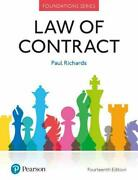 Law Of Contract Foundation Studies In Law Series, Richards 9781292251486..