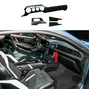 Fit For Ford Mustang 2015-2021 Central Console Instrument Strip Trim Dry Carbon