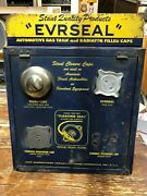 Stant Evrseal Radiator Gas Cap Counter Wall Display Cabinet Oil Sign 1957 Full