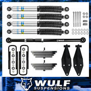 Wulf 2.8 Front Lift Kit W/ Track Bar + Bilstein Fits 00-05 Ford Excursion 4x4