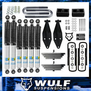 Wulf 2.8 Front 2 Rear Lift Kit W/ Dual Bilstein Shock Kit For 99-04 Ford F350