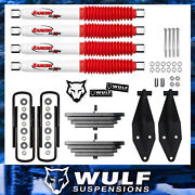 Wulf 2.8 Front Lift Kit W Dual Rancho Shock Kit Fits 00-05 Ford Excursion 4x4