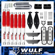 Wulf 2.8 Front 2 Rear Lift Kit W Dual Rancho Shock Kit For 99-04 Ford F350 4x4