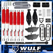 Wulf 3 Front 2 Rear Lift Kit W/ Track Bar And Rancho Shocks For 99-04 F350 4x4
