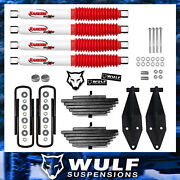 Wulf 3 Front Lift Kit With Dual Rancho Shock Kit Fits 99-04 Ford F250 4x4