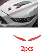 Fit For Ford Mustang 2015-2020 Exterior Engine Hood Spoiler Wind Knife Abs Red