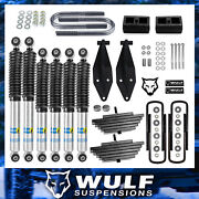 Wulf 3 Front 2 Rear Lift Kit W Dual Bilstein Shock Kit For 99-04 Ford F350 4x4