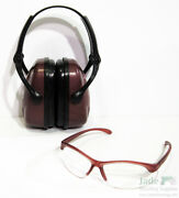 Howard Leight Women's Shooting Ear And Eye Protection Set Kit Glasses Purple Pink