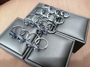 16 X White Gold/ Platinum Plated Rings For Lab Diamond And Metal Scrap Recovery