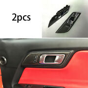 Interior Door Handle Bowl Carbon Fiber Replacement For 2015-2020 Ford Mustang