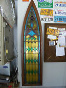 Antique Church Stained Glass Window - Late 1800and039s - Ready To Mount On Wall