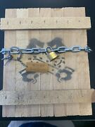 Kevin Gosselin Wooden Crate Box With Chains Lock And Keys. See Photos