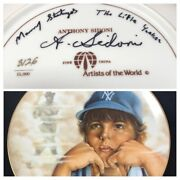 The Little Yankee Autographed By A. Sidoni Babe Ruth Baseball Collector Plate