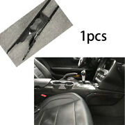 For Ford Mustang 15-20 Replace Middle Console Water Cup Frame Trim Carbon Fiber