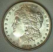 1889 Morgan Uncirculated Silver One Dollar Us Type Coin Philadelphia Mint