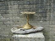 Large Antique 19th Century Brass Trivet Stand - Old Decor Country Kitchen
