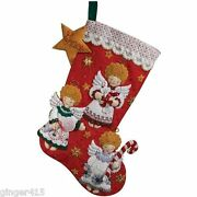 Bucilla Candy Angels Felt Christmas Stocking Kit Discontinued 86259 New 18