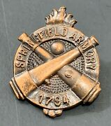 Ww1 Or Ww2 Springfield Armory Crossed Cannons Employee Lapel Pin Badge