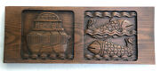 Evelyn And Jerome Ackerman Era Industries Carved Panel 9.25x24