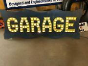 Lqqk Punched Tin Sign Garage Car Truck Hot Rat Rod Mancave Shop Collection Wow